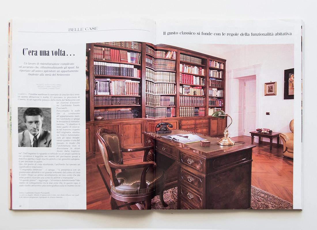 Casa del collezionista, Appartamento del '700, Lo studio,Recupero, Pucciarelli Studio di Architettura, Architetto Napoli