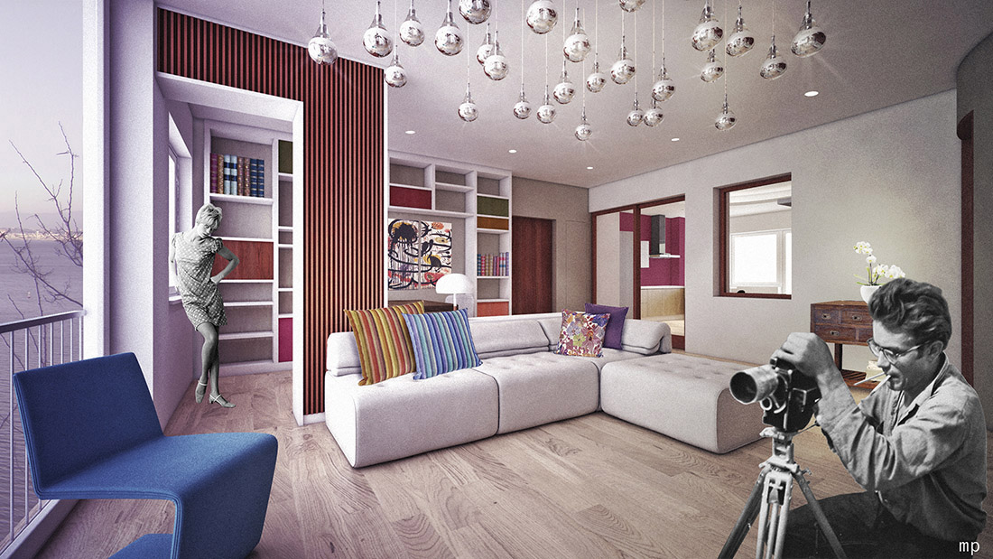 appartamento-marlena-open-space-vomero-vintage-interior-design-napoli