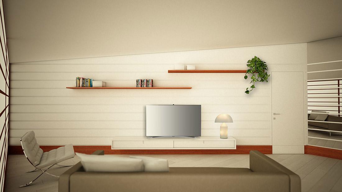 light idea-ufficio-e-area-relax-parete-attrezzata-tv-videogiochi